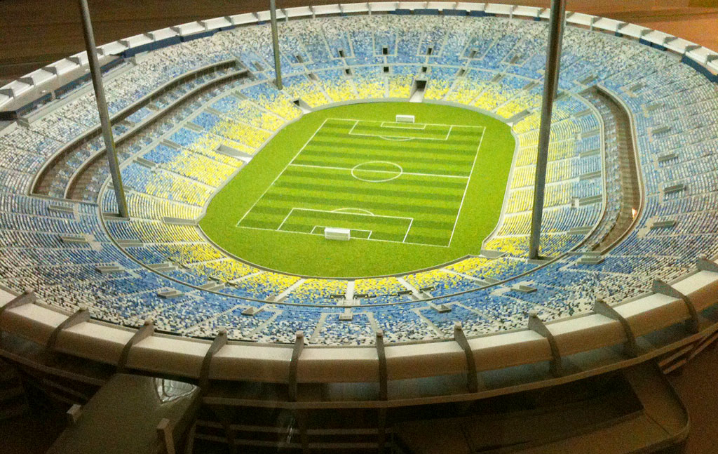 RJ define as cores das cadeiras do Maracanã: azul, branco e amarelo |  globoesporte.com