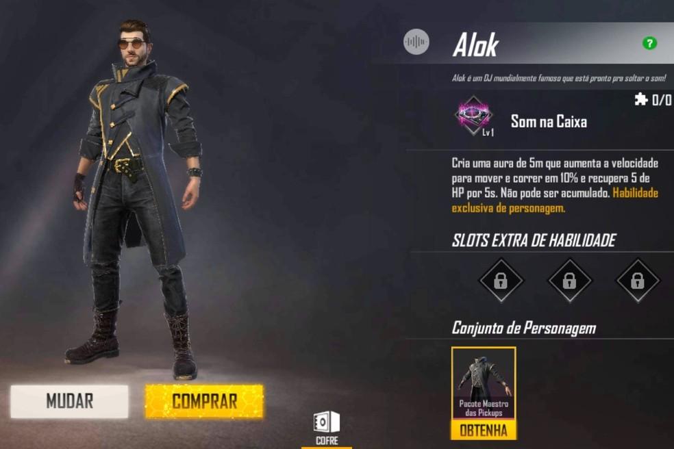 Free Fire: Garena faz alteração no personagem Alok; comunidade diverge |  call do gb12 | ge