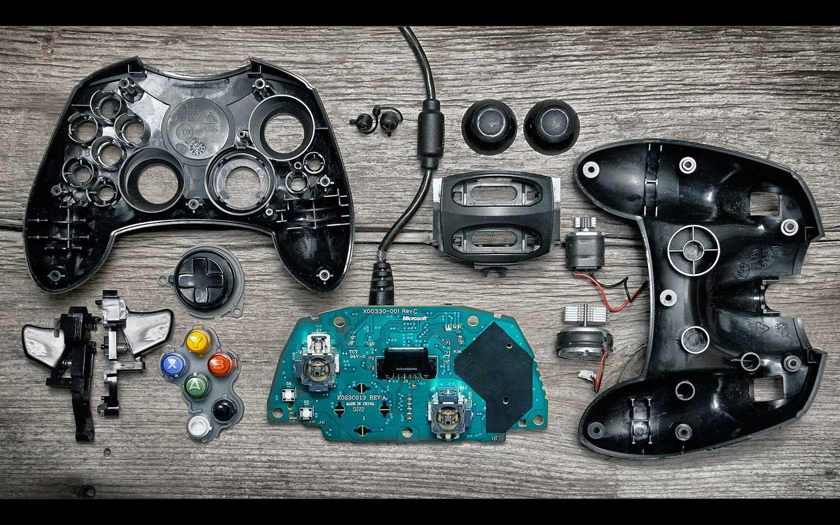 Controles de console são ainda mais lindos quando desmontados   Video game  controller, Deconstruction, Classic video games